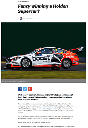 Click for Article on fancy winning a holden supercar?